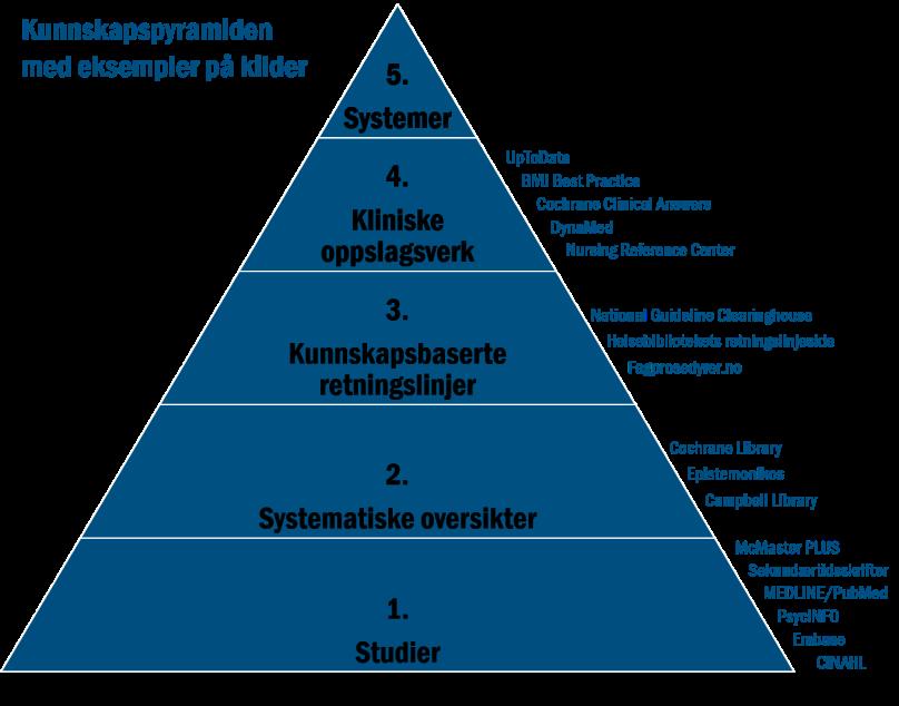 Kunnskapspyramiden eksempler kilder